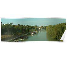 Houseboats on the Tiber III Poster