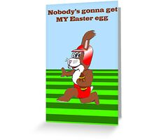 Football Easter Bunny Greeting Card