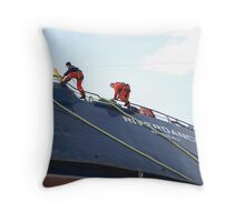 Salvage men Throw Pillow