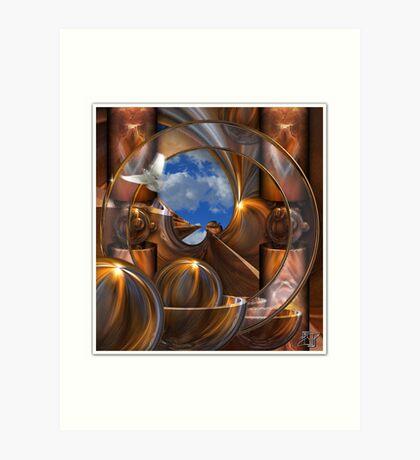 Tubes and Spheres Art Print