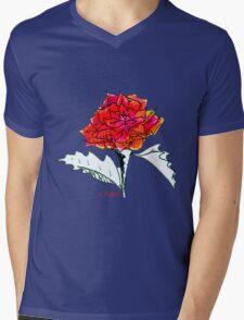 The Rose Mens V-Neck T-Shirt