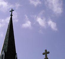 Crosses reaching for heaven by Melissa Emerick