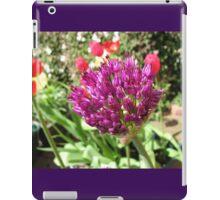 Purple Allium and Scarlet Tulips iPad Case/Skin