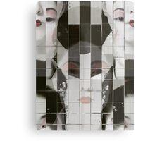 Geisha Blocks Metal Print