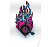 Burning Heart Poster