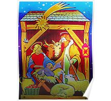 Nativity Candle Votive Poster