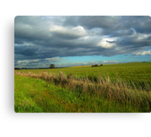 I think I can smell the rain on the grass Canvas Print