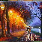 Alley LIMITED ED ART GICLEE OF AFREMOV PAINTING by leonid afremov