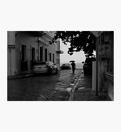 Walking in the Rain Photographic Print