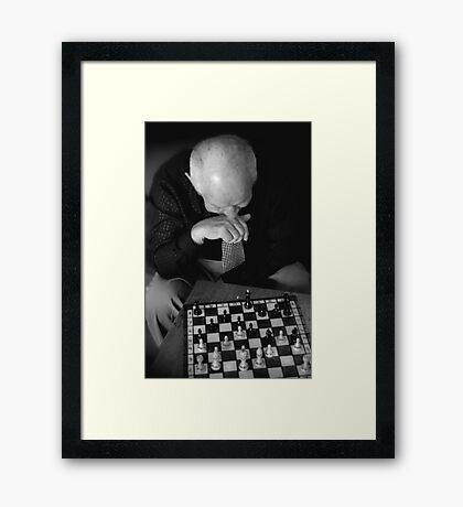 Chess Master.. Framed Print