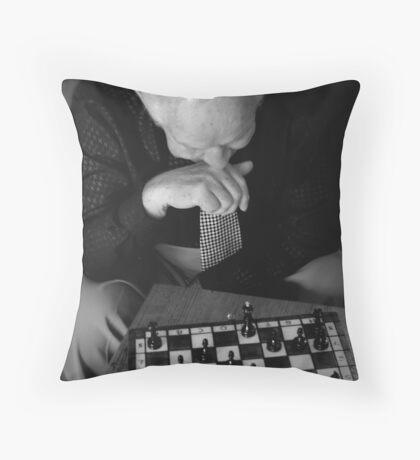 Chess Master.. Throw Pillow