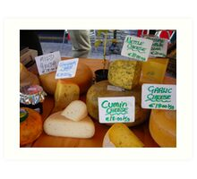 Cheese at Kilarney Farmer's Market Art Print