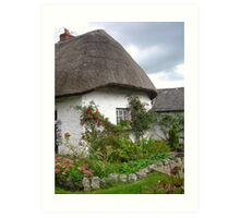 Thatched Roof Cottage Art Print