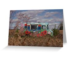 Hippie Van in Pennsylvania Farm Field Greeting Card