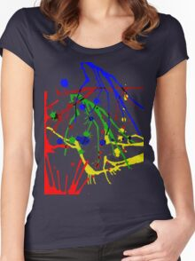 Ink Splatters Women's Fitted Scoop T-Shirt