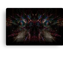 Electronic Spider Web Canvas Print
