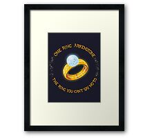 One Ring Arkenstone Framed Print