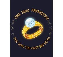 One Ring Arkenstone Photographic Print