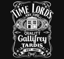 Doctor Who Time Lord's Quality Gallifrey Tardis Distressed Design by DeepFriedArt