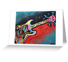 Space Guitar Greeting Card
