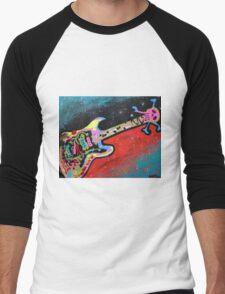 Space Guitar Men's Baseball ¾ T-Shirt