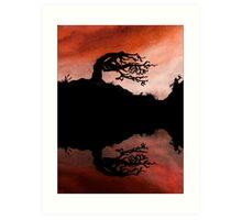 Fire Tree Art Print