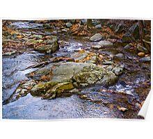 Down Stream Rocks Poster