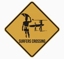 Surfers crossing One Piece - Short Sleeve