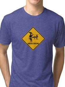 Surfers crossing Tri-blend T-Shirt