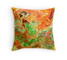 psychedelic ART, hand DRAWN bit by bit digi Throw Pillow