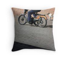 a moroccan cut Throw Pillow