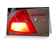 Mitsubishi Lancer Tail-light Greeting Card