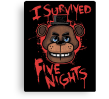 I Survived Five Nights At Freddy's Pizzeria Canvas Print