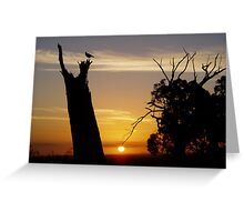 Watching the Sun Go Down Greeting Card
