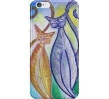 Stylized Kitty Kats iPhone Case/Skin