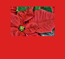 Christmas Poinsettia___for my friend Joyce (Fara) Womens Fitted T-Shirt