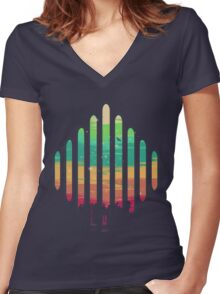 Synesthesia Women's Fitted V-Neck T-Shirt