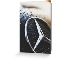 Burning Benz Greeting Card