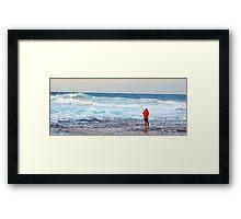 Red On Blue - Rock Fishing Australia Framed Print