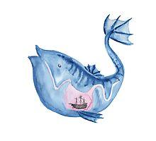 Look I drew a fish Photographic Print