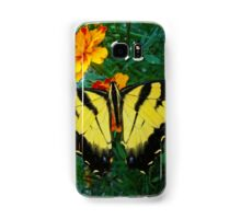 Yellow male Eastern Tiger Swallowtail Samsung Galaxy Case/Skin