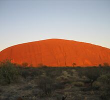 The Giant Pebble - Uluru at Dawn by AdrianMichael