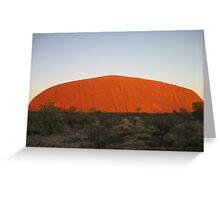 The Giant Pebble - Uluru at Dawn Greeting Card
