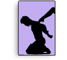 Silhouette Purple Canvas Print