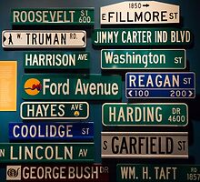 presidents street signs by Anne Scantlebury