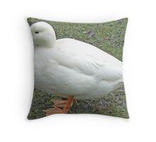 A White Mallard Throw Pillow