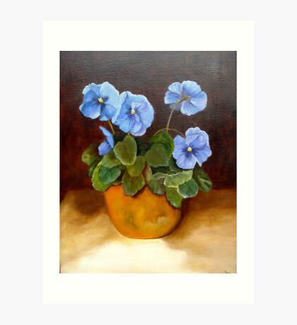 """""""Pansies in Terracotta"""" Art Print"""