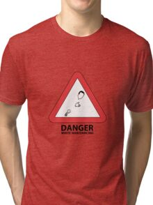 DANGER: White man dancing Tri-blend T-Shirt