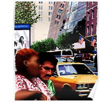 New York Yellow Cabs - Bus Stop Poster
