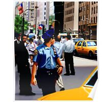 New York Yellow Cabs - Cop Poster